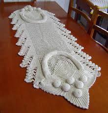 caminhos de mesa de croche com flores - Pesquisa Google
