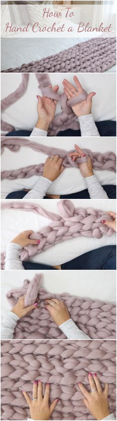 How To Hand Crochet a Blanket Easy Tutorial For Beginners Video How To Hand Crochet a Blanket The post How To Hand Crochet a Blanket Easy Tutorial For Beginners Video appeared first on Crochet ideas. Crochet Afghans, Crochet Stitches Free, Afghan Crochet Patterns, Hand Crochet, Crochet Baby, Free Crochet, Irish Crochet, Hat Patterns, Kids Patterns