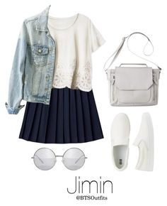 """""""Disneyland with Jimin"""" by btsoutfits ❤ liked on Polyvore featuring H&M, Uniqlo and Mossimo"""