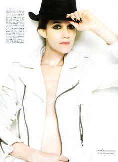 Charlotte Gainsbourg wears a Balenciaga Perfecto, Figaro Magazine, February 2010