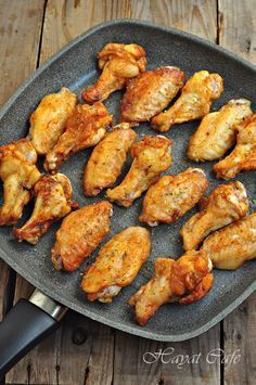 Tavada soslu kanat