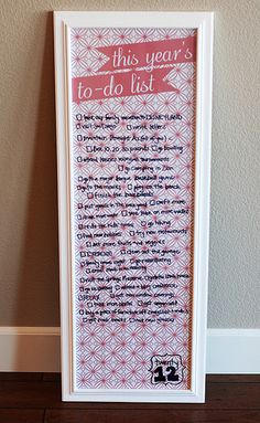 Make a family years to do list!