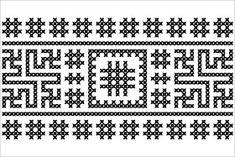 Semne Cusute: MOTIVE: vartelnita (varianta 4) Embroidery Motifs, Doodle Sketch, Amai, Hama Beads, Beading Patterns, Pixel Art, Wood Crafts, Cross Stitch, Tapestry