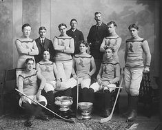 Shamrock hockey team, Montreal, QC, 1899 by Musée McCord Museum, via Flickr
