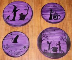 Primitive witch Halloween decorations signs Witches Kitchen stovetop oven Burner Covers samhain magic Folk Art Pagan Wiccan Primitives cats by SleepyHollowPrims, $55.00 USD