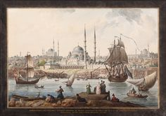 Jean-Baptiste Hilair - Yeni Camii and The Port of İstanbul