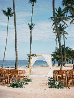 tropical wedding makeup Beach glamour on the shores of Punta Cana Beach Wedding Reception, Beach Wedding Photos, Destination Wedding Locations, Beach Ceremony, Destination Wedding Photographer, Beach Weddings, Romantic Weddings, Wedding Ceremony, Wedding Receptions