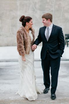The most perfect winter wedding I've ever seen! And her BHLDN gown...oh goodness. #bhldn