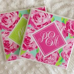 DIY lilly tile coasters!