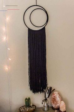 Your place to buy and sell all things handmade Black Crescent Moon Dreamcatcher Black Half Moon by DayCrafter<br> Dream Catcher Craft, Dream Catcher Boho, Dream Catchers, Urban Home Decor, Dream Catcher Tutorial, Moon Dreamcatcher, Wine Bottle Crafts, Wine Bottles, Boho Room