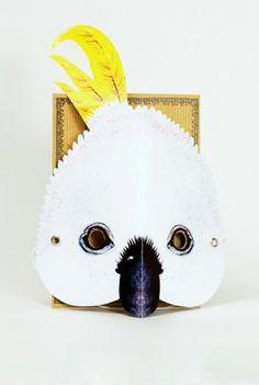 TMOD Australiana Mask Card Cockatoo mask Australia Day