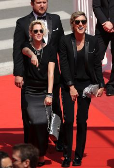Loving it: Kristen clearly approved of the music choice on the red carpet as she grooved a...