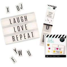 Heidi Swapp Lightbox with Alphabet and Icon Inserts Bundle