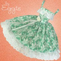 Leafy Lace - Vintage Barbie Doll Dress Reproduction Repro Barbie Clothes