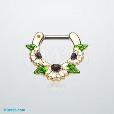Golden Daisy Garden Icon Septum Clicker