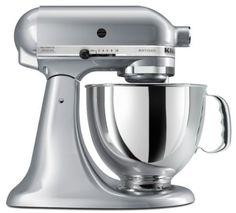 Amazon.com: KitchenAid KSM150PSMC Artisan Series 5-Quart Mixer, Metallic Chrome: Kitchen & Dining
