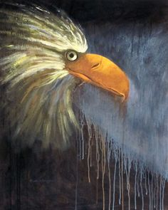 "www.keithwjohnson.com Contact me for commissions or to purchase  my art at draggingsticks@gmail.com Eagle Painting 30""x24"" acrylic on gallery wrapped stretched canvas"