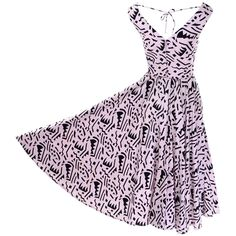 f159bcc968de 1980s Lillie Rubin Vintage Dress in Pink and Black Graphic Abstract Cotton  Print For Sale at