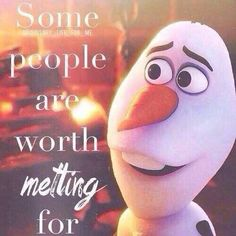 Some people are worth melting for....cute