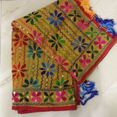 Phulkari dupatta long stole scarf, Gift for women, Wedding Bridesmaid gift, Indian embroidered scarf, ethnic stole dupatta Phulkari Embroidery, Indian Embroidery, Embroidery Stitches, Embroidery Designs, Boho Outfits, Indian Outfits, Phulkari Suit, Indian Skirt, Navratri Special