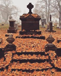 "Necrology — rockrebelstore:   ""I miss autumn #cemetery...                                                                                                                                                                                 More"