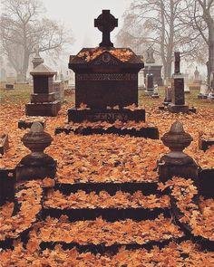 "Necrology — rockrebelstore:   ""I miss autumn #cemetery..."