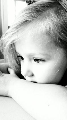 Elayna in black and white