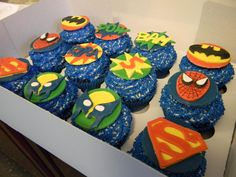 Wham! Pow! Ezra's turning five!  Birthday cupcakes from Sugarland Birthday Cupcakes, Birthday Parties, Gimme Some Sugar, Beautiful Cakes, Turning, Party Ideas, Sweets, Desserts, Recipes