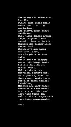ideas quotes indonesia cinta beda agama for 2019 Quotes Rindu, Story Quotes, Text Quotes, Mood Quotes, People Quotes, Daily Quotes, Positive Quotes, Life Quotes, Islamic Quotes