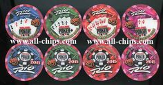 $5 RIO 2015 World Series of Poker Set of 4 WSOP Free Shipping