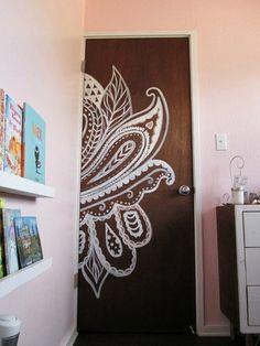 Lace Inspired Door