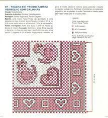 Resultado de imagem para risco de galinha para bordar em tecido xadrez