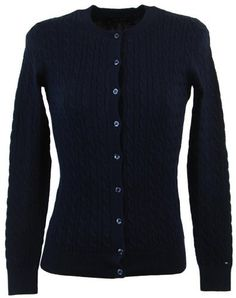 Tommy Hilfiger Womens Cable Knit Cardigan Sweater - XXL - Navy Tommy Hilfiger. $49.99. Save 29% Off!