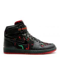 e2570c7a85dbb Air Jordan 1 High Strap A Tribe Called Quest Black Varsity Red Clssc Green  342132 062