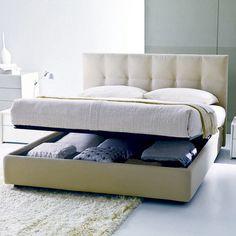 STORAGE!!!!! Gemma Upholstered Bed, Gemma Beds  Bontempi Casa Beds | YLiving