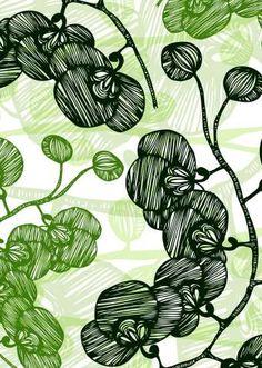 Kess InHouse Anchobee Pinya Lime Green Pattern Fleece Throw Blanket 40 x 30