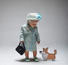 LADYLAND TERRORS OF LONDON - Kids halloween costumes - The Queen! www.thisisladyland.com Photographer: Dee Ramadan Art Director: Emma Scott-Child