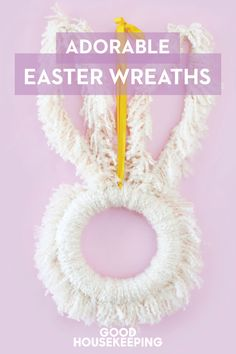 You'll want to come back to these Easter wreaths later. For more DIY projects, follow @goodhousemag on Pinterest.