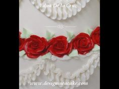 http://www.designmeacake.com/  Edna De la Cruz teaches buttercream roses.    For more Tutorials visit my website:  http://www.designmeacake.com/    For DVD's and my favorite tools visit:  http://www.designmeacake.com/stor.html    Join me in FB and post your work there!  https://www.facebook.com/pages/Design-Me-a-Cake/263955423295    Read my blog...