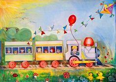 Térszépítés színnel-lélekkel – Illés Márta festőművész, művésztanár alkotásai | Életszépítők