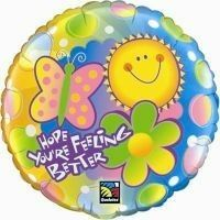 Hope your'e Feeling Better - Amazing Birthday Presents Forever  Price:  US$45.99  Make an impact and send your greetings with this large Helium Foil balloon. Personalise it by using the add-on feature and you'll have one impressive gift. Currently Only Available for Newcastle - Maitland - Cessnock Regions.- Pack of 3 Balloons
