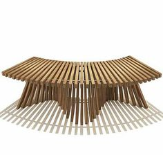 Spirit Song Curved Backless Teak Bench - Spirit Song Collection by Reforest Teak (sustainable outdoor furniture)