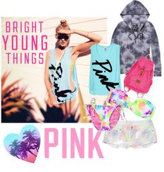 """""""PINK by VS"""" by agspencer24 ❤ liked on Polyvore"""