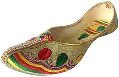 Amazon.com | Step n Style Ethnic Bridal Flats Wedding Shoes Indian Designer Shoes Punjabi Jutti | Flats