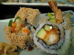 shrimp tempura - shrimp, roe, and avocado