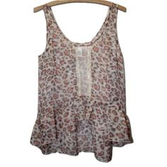 Band of Gypsies Urban Outfitters Sz S Boho Blouse Band of Gypsies Urban Outfitters Sz S Sheer Sleeveless High Low Boho Lace Blouse.  Size: Small Animal Print 100% Polyester, Trim: 100% Nylon Sleeveless Chest/Bust: 34-36 inches Total Length: 24 inches Urban Outfitters Tops Blouses