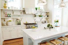 Open shelving, cabinet hardware