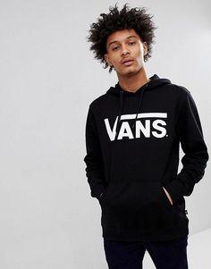 75cf7251662 Vans Classic Pullover #hoodie In Black V00J8NY28 Vans Backpack, Black Vans,  Vans Hoodie