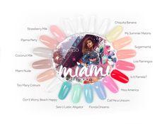 Miami Collection 2017 by Natalia Siwiec Nail Polish! Spring Nails, Summer Nails, Pink Lemon, Indigo Nails, Strawberry Milk, Polish Nails, Miss America, Pastel Nails, Hot Nails