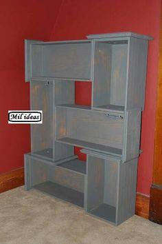 Dresser drawer shelves